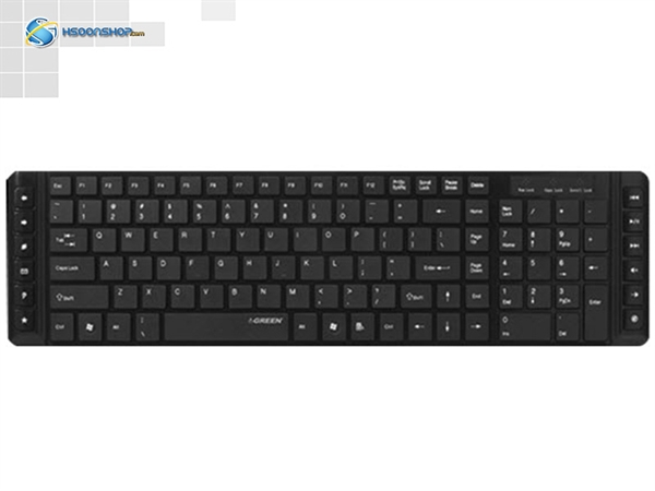 green gk 301 ultra slim multimedia keyboard